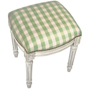 123 Creations Plaid Upholstered Vanity Stool