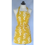SF Bay Aprons Cotton Seahorse Apron; Yellow