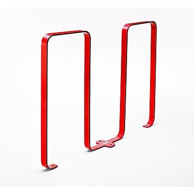Frost 5 Bike Freestanding Bike Rack; Red