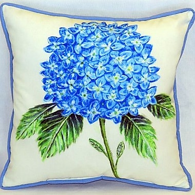 Betsy Drake Interiors Hydrangea Indoor/Outdoor Throw Pillow