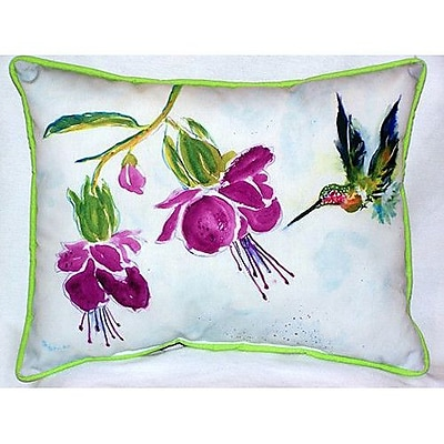 Betsy Drake Interiors Hummingbird 24'' Indoor/Outdoor Lumbar Lumbar Pillow