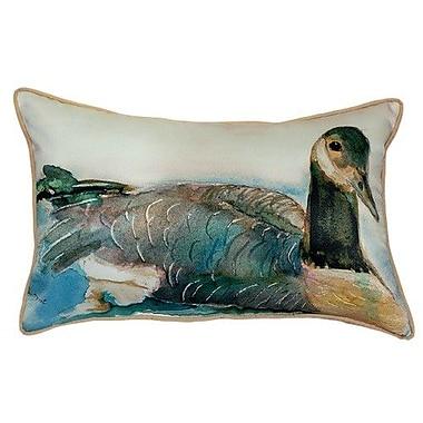 Betsy Drake Interiors Canada Goose Indoor/Outdoor Lumbar Pillow; Large