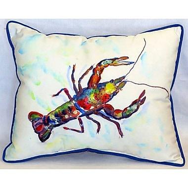 Betsy Drake Interiors Crayfish 24'' Indoor/Outdoor Lumbar Pillow