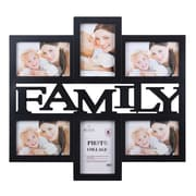 Wee's Beyond 6-Photo Collage Picture Frame; Black