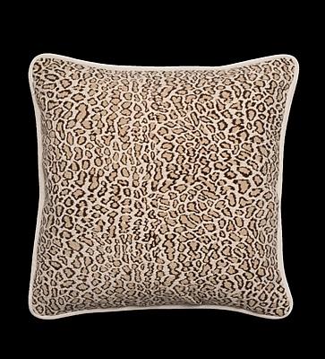 Vesper Lane Faux Fur Leopard Designer Filled Fabric Throw Pillow
