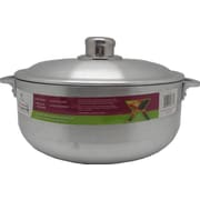Wee's Beyond Heavy Guage Aluminum Round Dutch Oven w/ Aluminum lid; 5.2'' H x 15'' W