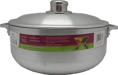 Wee's Beyond Heavy Guage Aluminum Round Dutch Oven w/ Aluminum lid; 3.7'' H x 9.45'' W