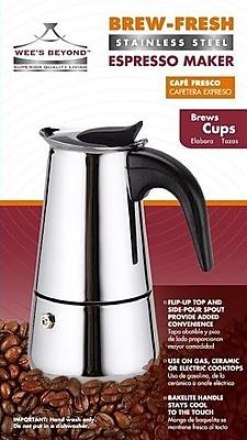 Wee's Beyond Brew- Fresh Espresso Maker; 4 Cups