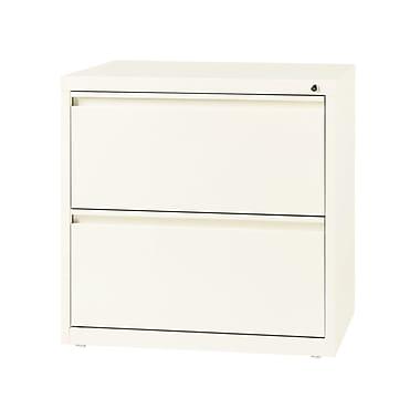 Hirsh – Classeur latéral à 2 tiroirs, largeur de 30 po, blanc nuage