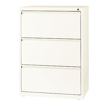 Hirsh – Classeur latéral à 3 tiroirs, largeur de 30 po, blanc nuage