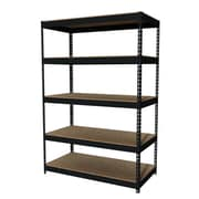 "Hirsh Iron Horse Rivet 5-Shelf, 72""H x 48""W x 24""D, Metal, Black"