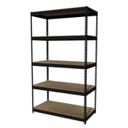 "Hirsh Iron Horse Rivet 5-Shelf, 84""H x 48""W x 24""D, Metal, Black"