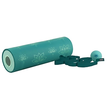 Empower – Rouleau de massage R&R, bleu sarcelle à motif de lotus, MP-3297R