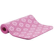 Empower Printed Fashion Fitness Mat With Carry Strap, Pink Flower Print, (MP-3345R)