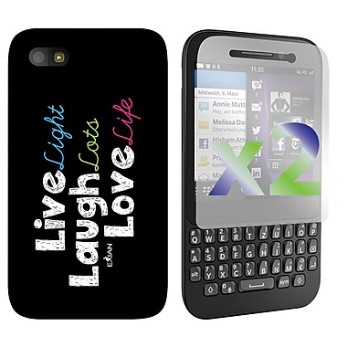 Exian Case for BlackBerry Q5, Live/Laugh/Love