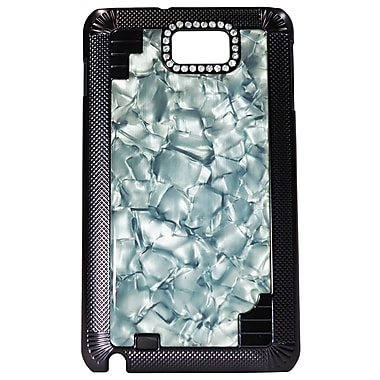 Exian Case for Galaxy Note Hard Plastic Marble, Black