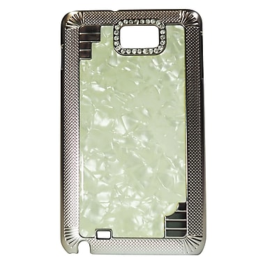 Exian Case for Galaxy Note Hard Plastic Marble, White