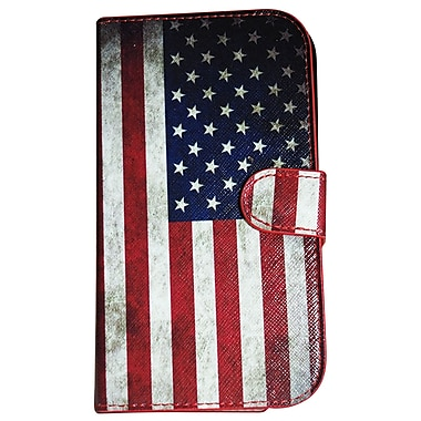 Exian Case for Galaxy Note 2 Leather Grunge American Flag