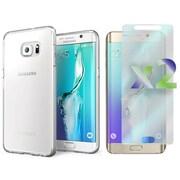 Exian – Étui mince pour Galaxy S6 Edge Plus avec protecteurs d'écran transparents x2, transparent