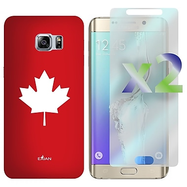 Exian Case for Galaxy S6 Edge Plus & Screen Protectors x2, Maple Leaf