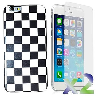 Exian – Étui pour iPhone 6 et protecteurs d'écran x2 mince, carreaux