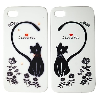 Exian Case for iPhone 4 Cat with a Heart Couples Matching Case