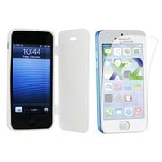 Exian – Étui pour iPhone 5c et protecteurs d'écran x2, couleur solide avec protecteur avant, blanc