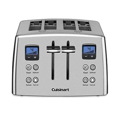 Cuisinart – Grille-pain en métal 4 tranches avec minuterie à rebours (CPT-435C)