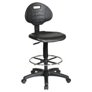 Intermediate Drafting Chair with Adjustable Footrest, Black
