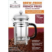 Wee's Beyond Brew- Fresh Glass French Press Coffee Maker