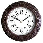 Wee's Beyond 14'' Woven-Like Wall Clock; Brown