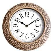 Wee's Beyond 14'' Woven-Like Wall Clock; Gold