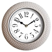 Wee's Beyond 14'' Woven-Like Wall Clock; White