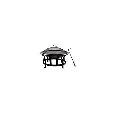 Astella Stainless Steel Black & Silver Fire Pit