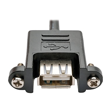 Tripp Lite Motherboard IDC to USB Type A Female/Female Panel Mount Cable, 1' (U024-001-5P-PM)