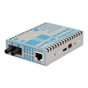 Omnitron FlexPoint Fast Ethernet ST Port Fiber Media Converter, Gray (4343-1)