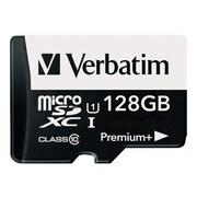 Verbatim® 99142 PremiumPlus UHS-I Class 10 128GB microSDXC Memory Card with Adapter
