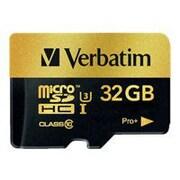 Verbatim® 44033 ProPlus UHS-I U3 Class 10 32GB microSDHC Memory Card with Adapter