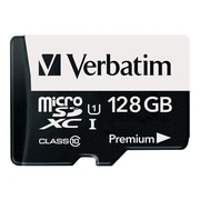 Verbatim® 44085 Premium UHS-I Class 10 128GB microSDXC Memory Card with Adapter