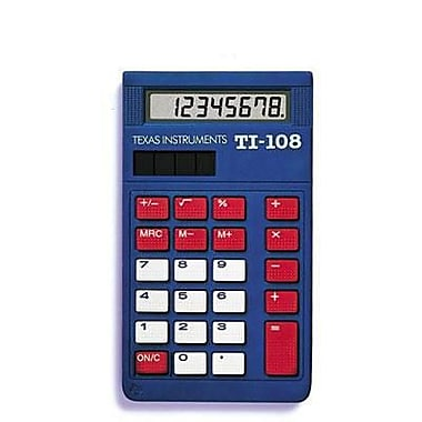 four function calculator texas instruments ti 108 elementary calculator blue red white