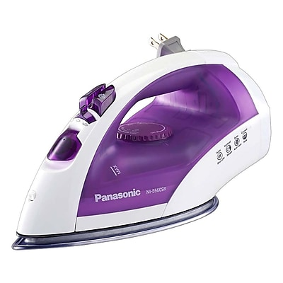 Panasonic 1200 W Circulating Steam Iron, White/Violet (NI-E660SR)