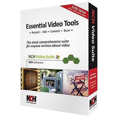 NCH Software® Software Video Essentials - Video Editing Software, Windows, CD-ROM (RET-VIDW001)