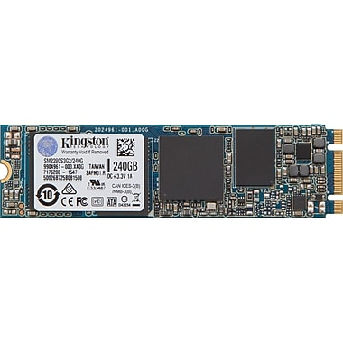 Kingston – Disque SSD interne SSDNow de 240 Go, SATA, vitesse de lecture maximale de 550 Mo/s, (SM2280S3G2/240G)