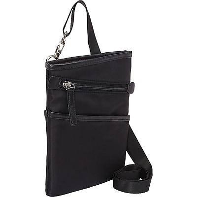 Women in Business Dallas City Black Microsuede Slim Cross Body Bag For 7