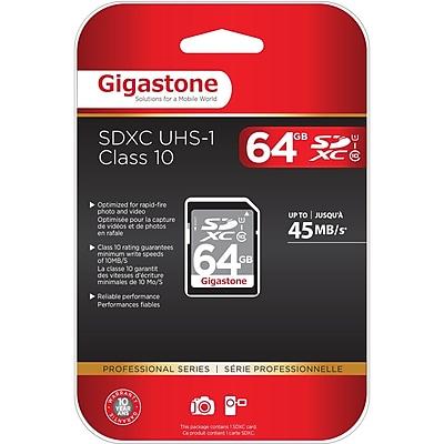 Gigastone GS-SDXCU164G-R Class 10/UHS-I 64GB SDXC Memory Card (GS-SDXCU164G-R)