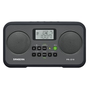Sangean PR-D19 1.4 W AM/FM Digital Clock Radio, Black/Gray