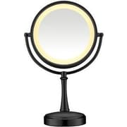 "Conair® Touch Control Lighted Mirror, 8 1/2"", Matte Black (BE87MB)"