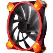 Antec® TrueQuiet 120 UFO Red LED Cooling Fan for Computer Cases, Black (TRUEQUIET120 UFO RED)