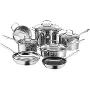 Cuisinart® Professional Series™ Stainless Steel Cookware Set, 11 Piece, Silver (89-11)
