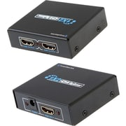 Comprehensive® 2 Port HDMI Female/Male UHD Splitter, Black (CDA-HD200EC)